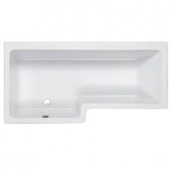 Carron Quantum L-Shaped Shower Bath 1600mm x 700/850mm Left Handed - Carronite