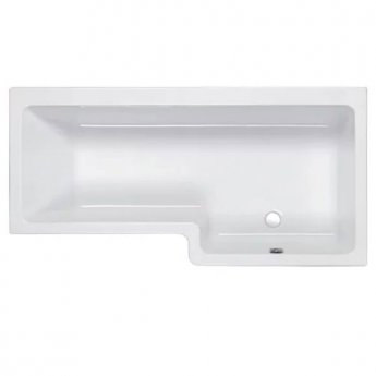 Carron Quantum L-Shaped Shower Bath 1500mm x 700/850mm Right Handed - Carronite