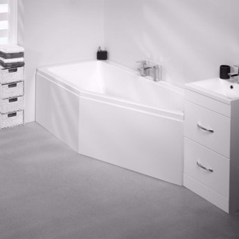 Carron Quantum Spacesaver Offset Bath 1700mm x 750mm Right Handed 5mm - Acrylic