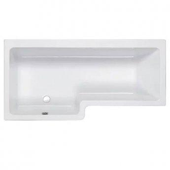 Carron Quantum Square 1700mm x 700mm/850mm Shower Bath - Left Handed - White