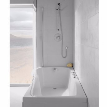 Carron Sigma 1800mm x 750mm/900mm Shower Bath LH 5mm Acrylic - White