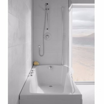 Carron Sigma 1800mm x 750mm/900mm Shower Bath RH 5mm Acrylic - White