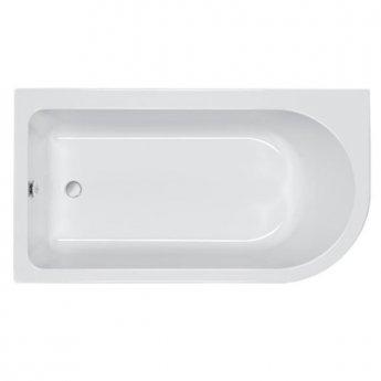 Carron Status Carronite 1550mm x 850mm Shower Bath - Right Handed - Acrylic