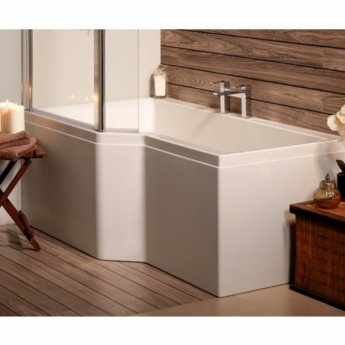 Carron Urban Edge 1575mm x 700mm/850mm Shower Bath LH 5mm Acrylic - White
