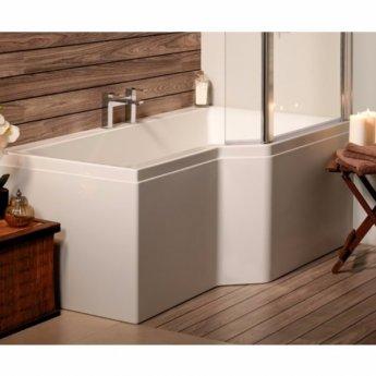 Carron Urban Carronite Edge 1575mm x 700mm/850mm Shower Bath - Right Handed - Acrylic