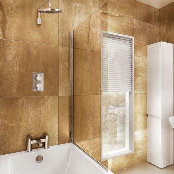 Cleargreen Bathscreen Hinged 1450mm x 850mm - 6mm Glass