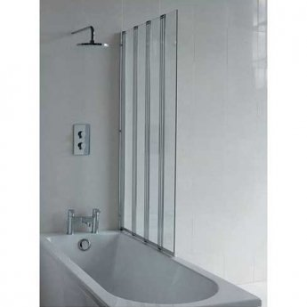 Cleargreen Bath Screen Four Panel 1450mm x 880mm - 6mm Glass