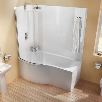 Cleargreen Ecoround Shower Bath 1500mm x 900mm/740mm - Left Handed