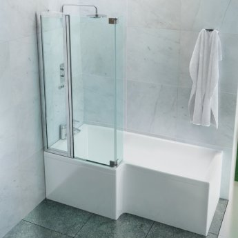 Cleargreen Ecosquare Shower Bath 1700mm x 850mm/700mm - Left Handed