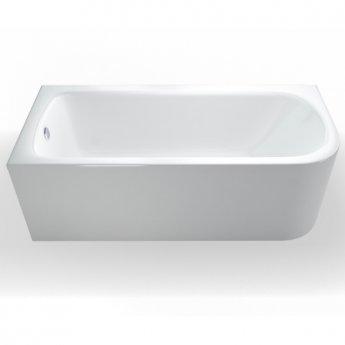 Cleargreen Viride Offset Rectangular Single Ended Bath 1700mm x 750mm - Left Handed
