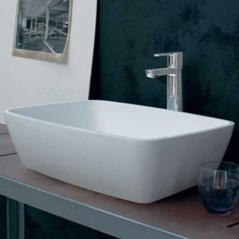 Clearwater Vicenza Natural Stone Sit-On Countertop Basin 590mm Wide - 0 Tap Hole