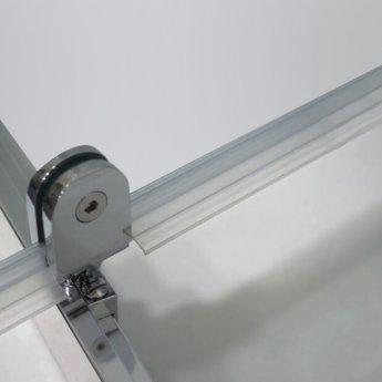 Coram GB 5 Pivot Shower Door 760mm Wide - 5mm Plain Glass