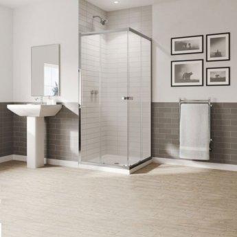 Coram GB 5 Corner Entry Shower Enclosure 800mm x 800mm - 5mm Glass