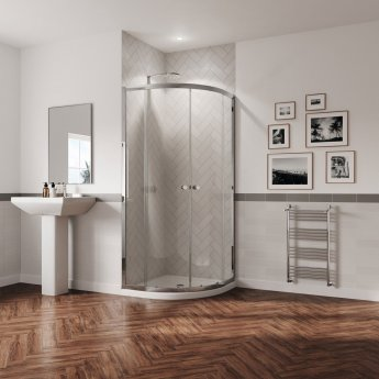 Coram GB 5 Quadrant Shower Enclosure 800mm x 800mm - 5mm Glass