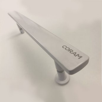 Coram Optima 6 White Pivot Shower Door 800mm Wide - 6mm Plain Glass