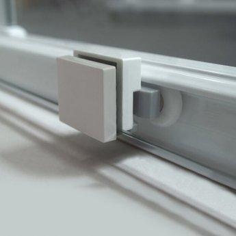 Coram Optima 6 White Sliding Shower Door 1200mm Wide - 6mm Plain Glass
