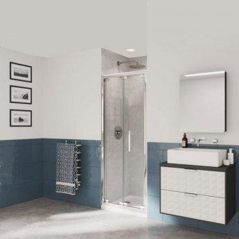 Coram Optima 6 Bi-Fold Shower Door 700mm Wide - 6mm Plain Glass