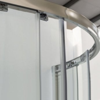 Coram Premier 8 Double Offset Quadrant Shower Enclosure 1200mm x 800mm - 8mm Plain Glass