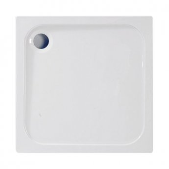 Coram Resin Square Shower Tray 800mm x 800mm - Flat Top