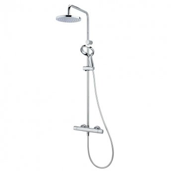 Deva Aio Aurajet Cool To Touch Bar Shower Valve with Shower Kit and Fixed Head - Chrome