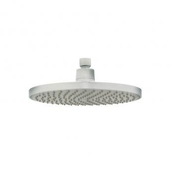 Deva 8 Inch Round Fixed Shower Head with Swivel Joint Chrome