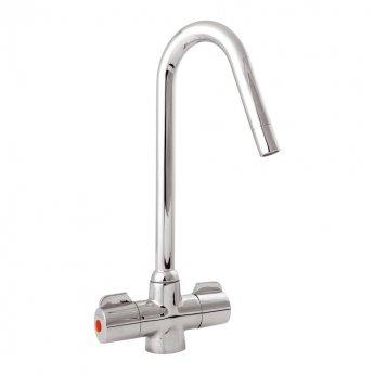 Deva Converse Mono Kitchen Sink Mixer Tap, Chrome