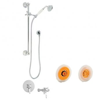 Deva Georgian Eco Dual Concealed/Exposed Mixer Shower with Shower Kit