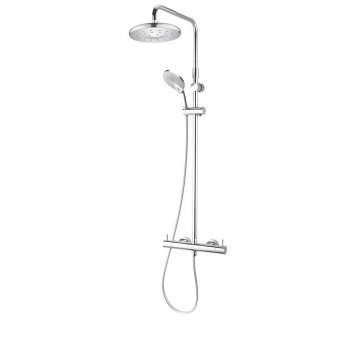 Deva Kaha Cool To Touch Bar Shower Valve With Shower Kit + Fixed Head - Chrome