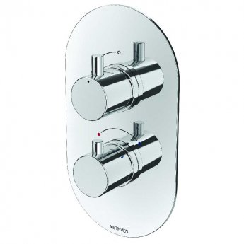 Deva Kaha Thermostatic Concealed Shower Valve Dual Handle - Chrome