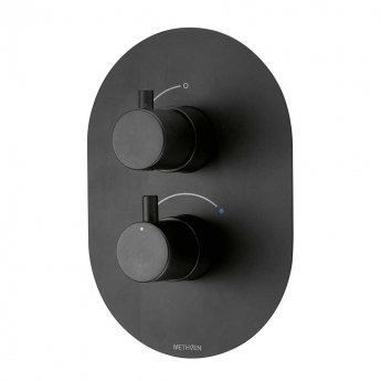 Deva Kaha Thermostatic Concealed Shower Valve Dual Handle - Matte Black