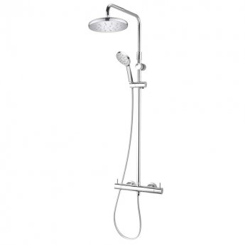 Deva Kiri MK2 Cool To Touch Bar Shower Valve with Shower Kit and Fixed Head - Chrome