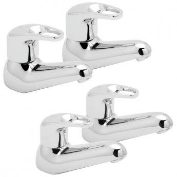 Deva Lace Basin Taps and Bath Taps, Chrome