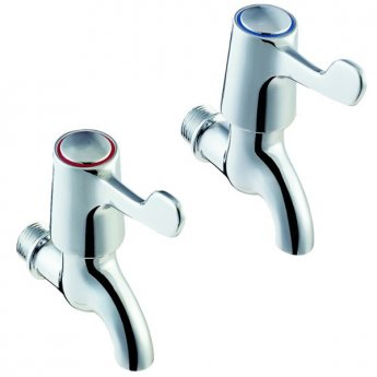 Deva Lever Action Bathroom Chrome Bib Taps