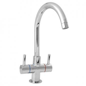Deva Metropolis Mono Kitchen Sink Mixer Tap, Chrome