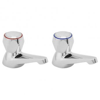 Deva Profile Bath Taps Pair Chrome (with Metal Backnuts)