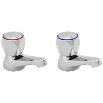 Deva Profile Basin Taps Pair - Chrome