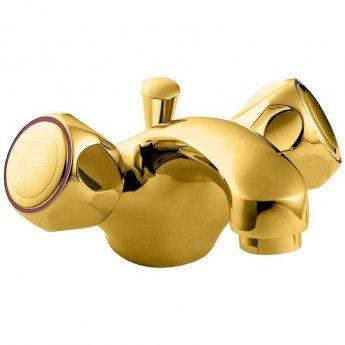 Deva Profile Mono Basin Mixer Tap with Pop-Up Waste - Gold