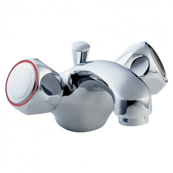 Deva Profile Mono Basin Mixer Tap with Pop-Up Waste - Chrome
