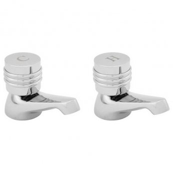 Deva Solerno Bath Taps Pair - Chrome