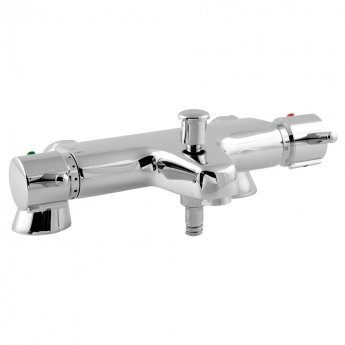 Deva Thermostatic Pillar Mounted Lever Bath Shower Mixer Tap - Chrome
