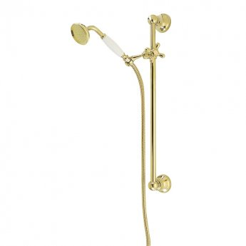 Deva Period Traditional Single Function Exposed Shower Kit Gold