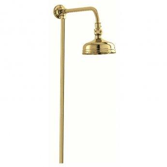 Deva Period Traditional Shower Riser Kit Gold