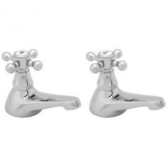 Deva Tudor Traditional Bath Taps Pair - Chrome