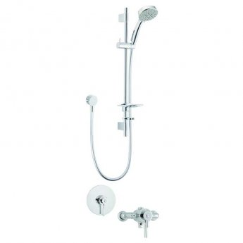 Deva Vision Dual Exposed Mixer Shower with Shower Kit