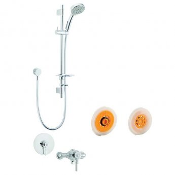 Deva Vision Eco Dual Concealed Mixer Shower with Shower Kit