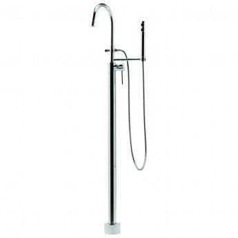 Deva Vision Floor Standing Mono Bath Shower Mixer Tap - Chrome