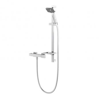 Deva Waipori Satinjet Cool to Touch Bar Shower Valve with Shower Kit - Chrome