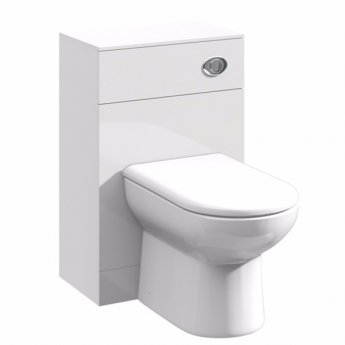 Duchy Alaska Back to Wall WC Toilet Unit 500mm Wide - White