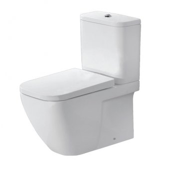 Duchy Fuchsia Fully Back to Wall Close Coupled Toilet with Push Button Cistern - Soft Close Seat