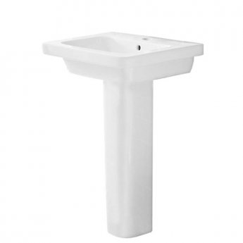 Duchy Ivy Basin with Full Pedestal, 500mm Wide, 1 Tap Hole